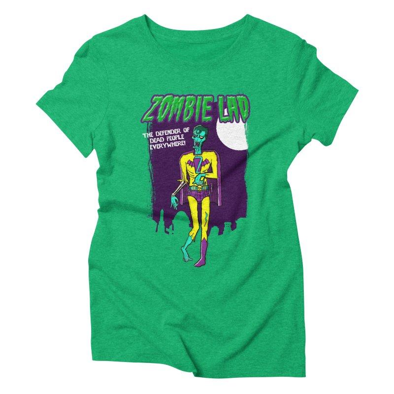 Zombie Lad Women's Triblend T-Shirt by John D-C's Artist Shop