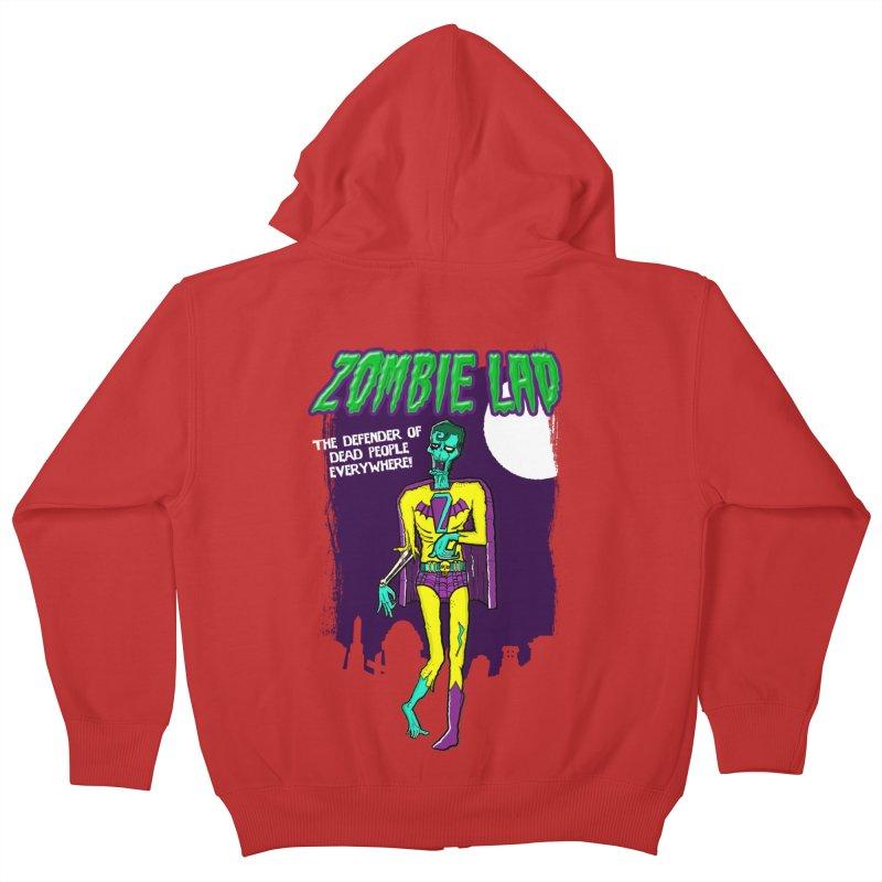 Zombie Lad Kids Zip-Up Hoody by John D-C's Artist Shop