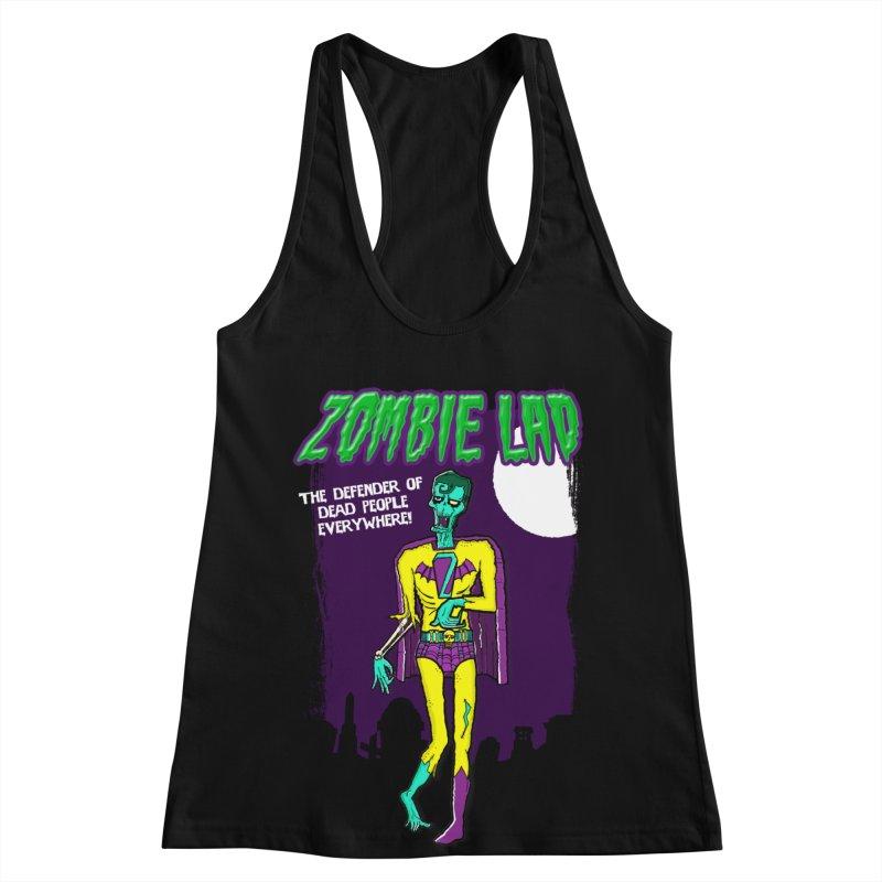 Zombie Lad Women's Racerback Tank by John D-C