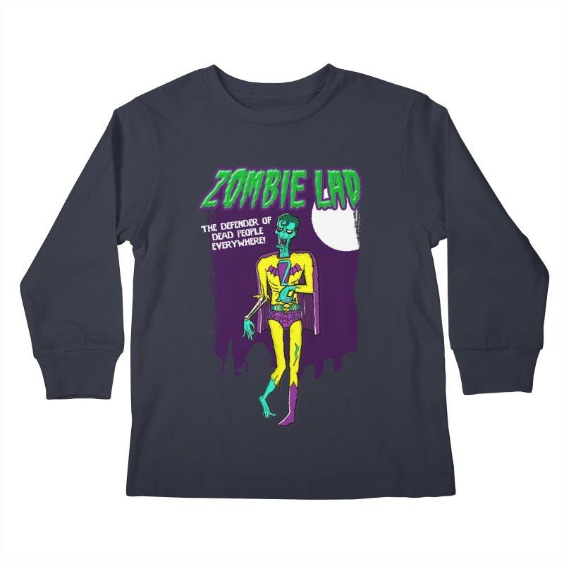 Zombie Lad Kids Longsleeve T-Shirt by John D-C