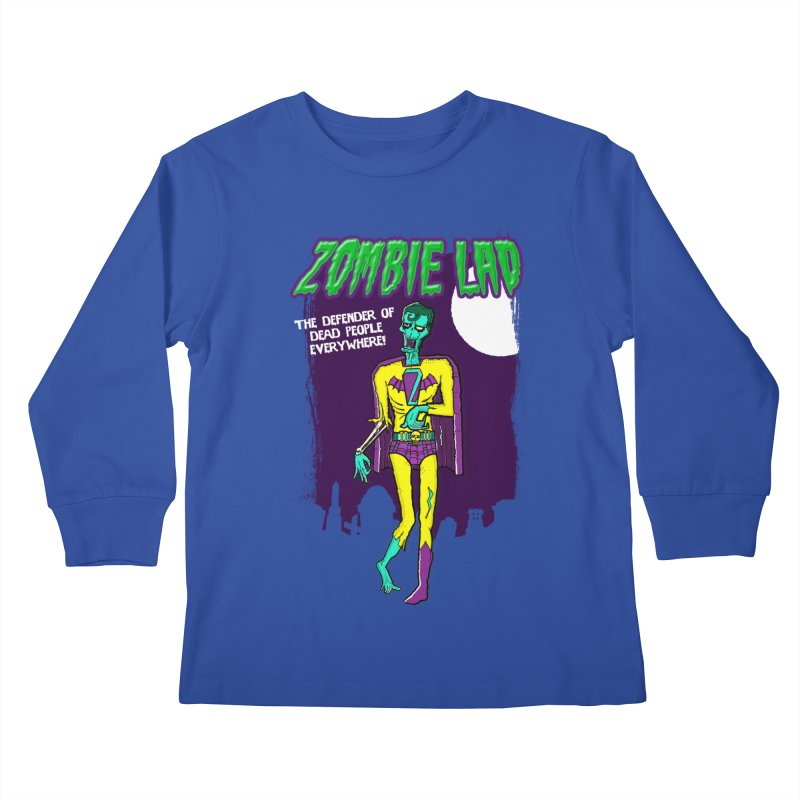 Zombie Lad Kids Longsleeve T-Shirt by John D-C's Artist Shop
