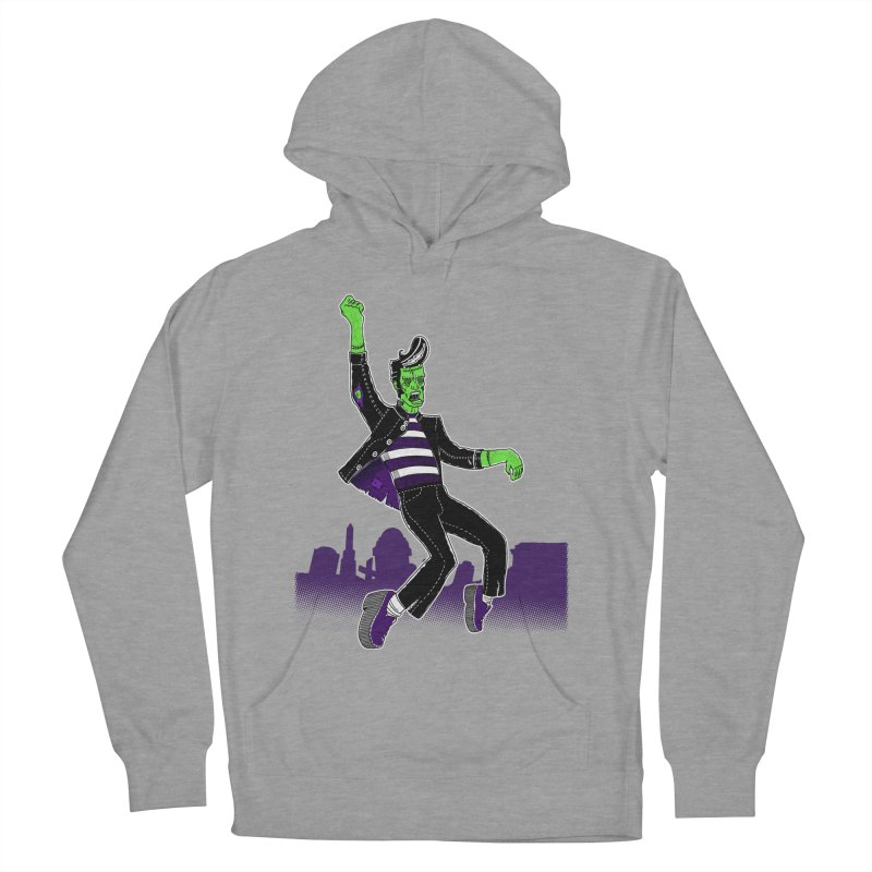 Frankie - Haunted House Rock Men's French Terry Pullover Hoody by John D-C