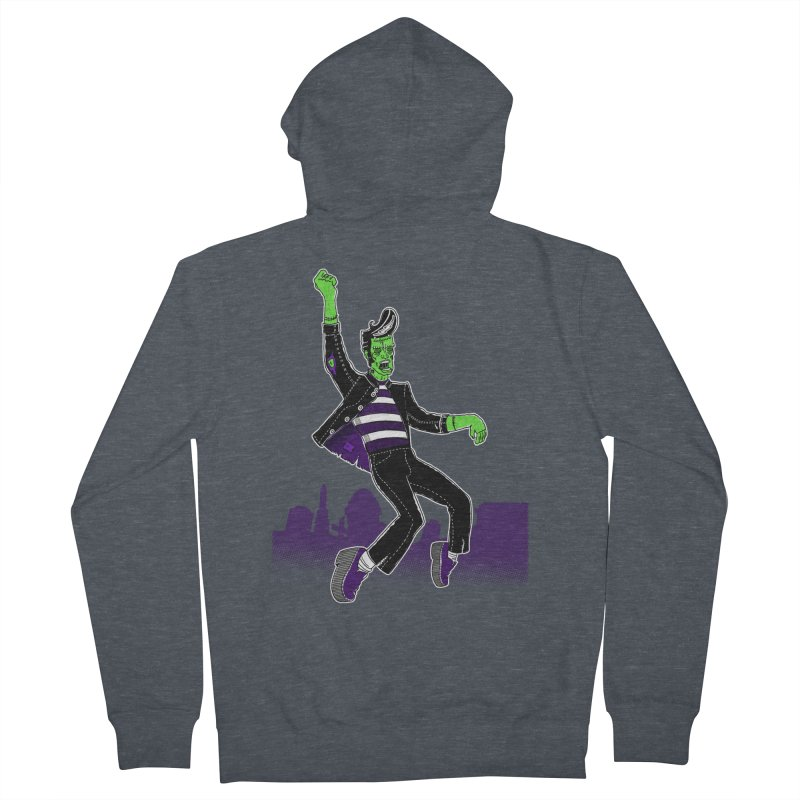 Frankie - Haunted House Rock Women's French Terry Zip-Up Hoody by John D-C