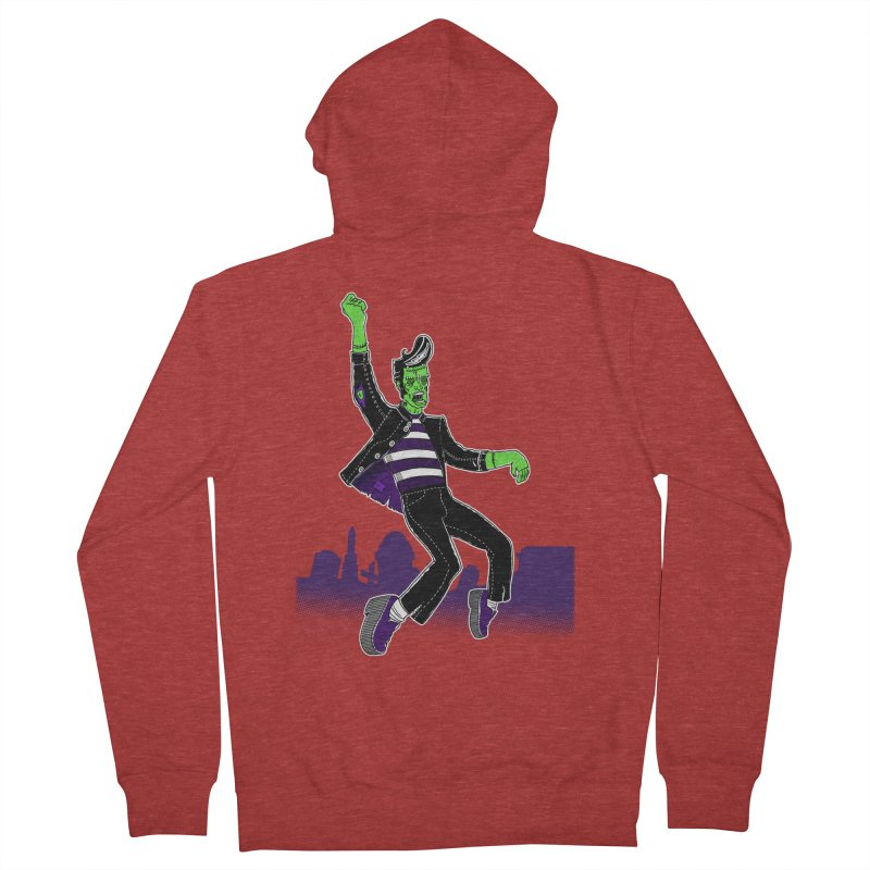Frankie - Haunted House Rock Women's French Terry Zip-Up Hoody by John D-C's Artist Shop
