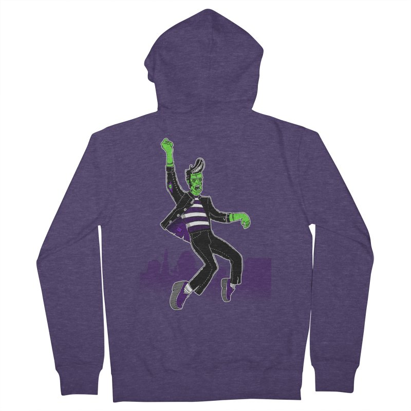 Frankie - Haunted House Rock Men's French Terry Zip-Up Hoody by John D-C
