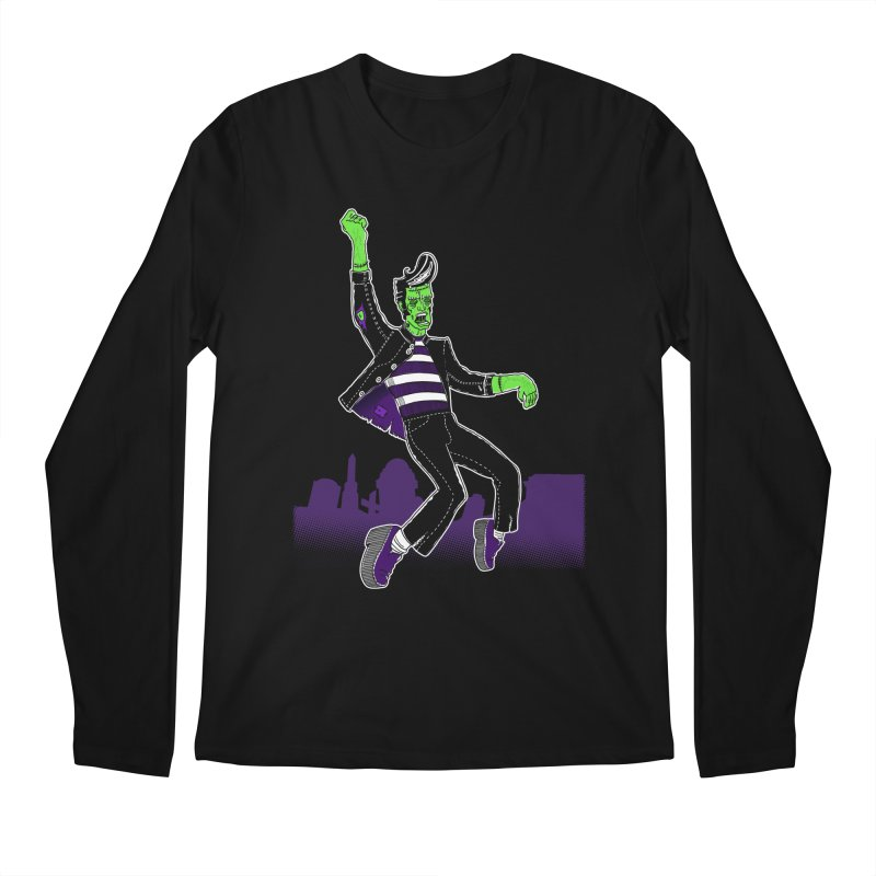 Frankie - Haunted House Rock Men's Regular Longsleeve T-Shirt by John D-C's Artist Shop