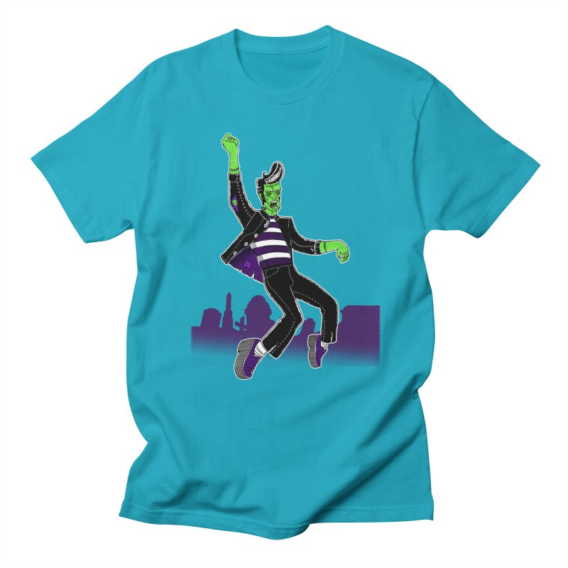 Frankie - Haunted House Rock Men's Regular T-Shirt by John D-C's Artist Shop