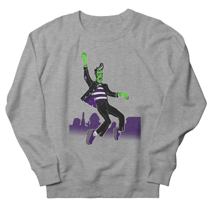 Frankie - Haunted House Rock Men's French Terry Sweatshirt by John D-C's Artist Shop