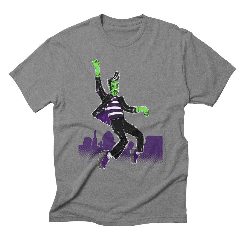 Frankie - Haunted House Rock Men's Triblend T-Shirt by John D-C