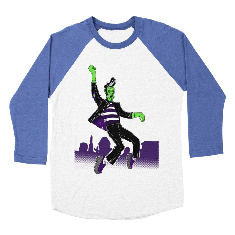 Frankie - Haunted House Rock Women's Baseball Triblend T-Shirt by John D-C's Artist Shop