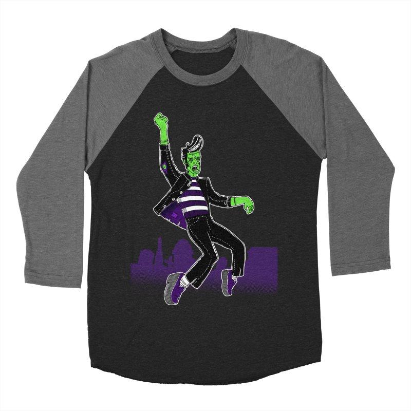Frankie - Haunted House Rock Men's Baseball Triblend Longsleeve T-Shirt by John D-C