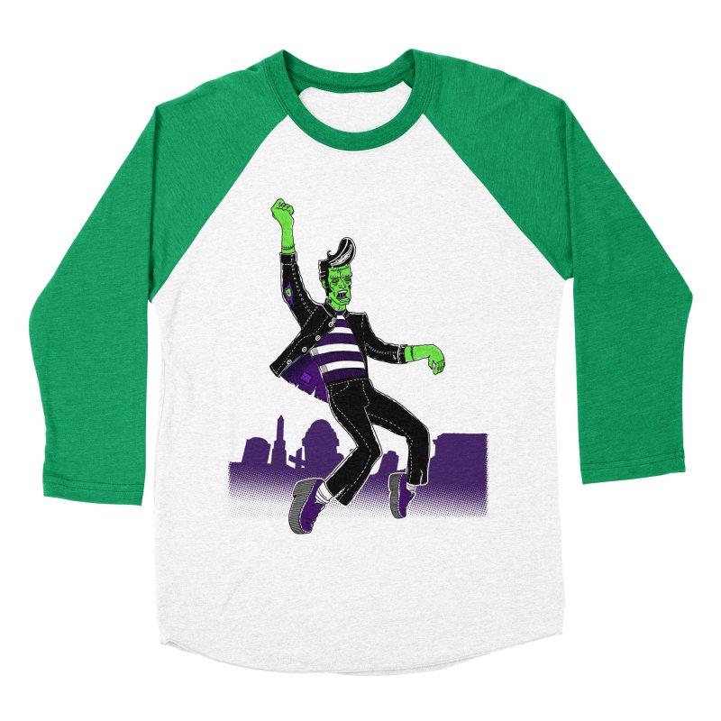 Frankie - Haunted House Rock Men's Baseball Triblend Longsleeve T-Shirt by John D-C's Artist Shop
