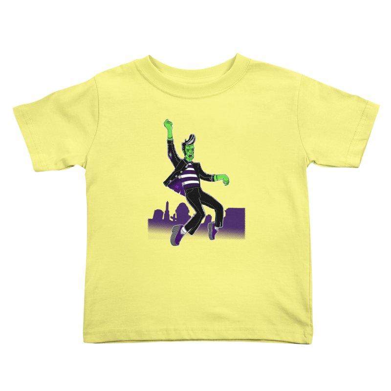 Frankie - Haunted House Rock Kids Toddler T-Shirt by John D-C's Artist Shop