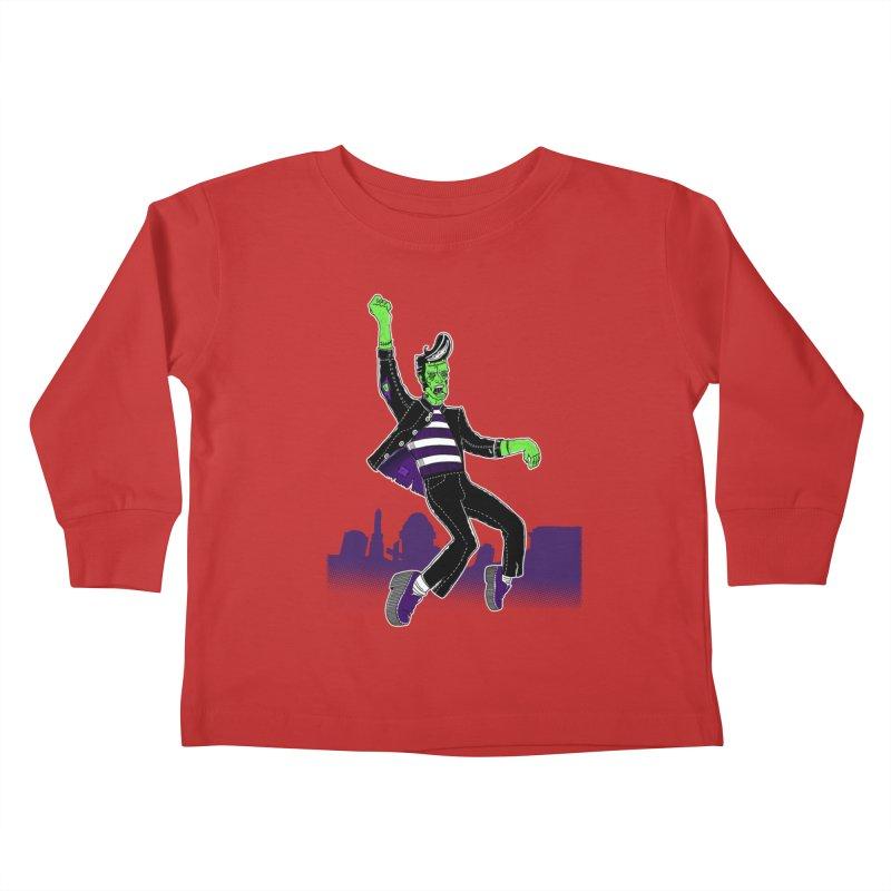 Frankie - Haunted House Rock Kids Toddler Longsleeve T-Shirt by John D-C's Artist Shop
