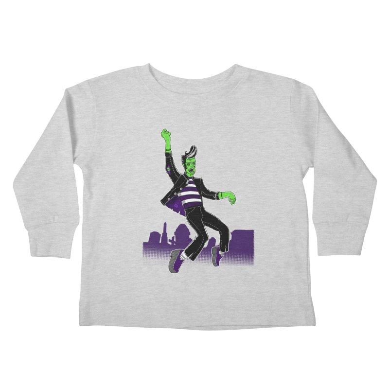 Frankie - Haunted House Rock Kids Toddler Longsleeve T-Shirt by John D-C
