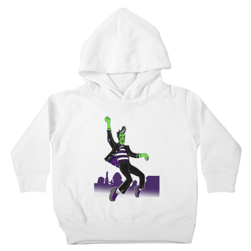 Frankie - Haunted House Rock Kids Toddler Pullover Hoody by John D-C's Artist Shop