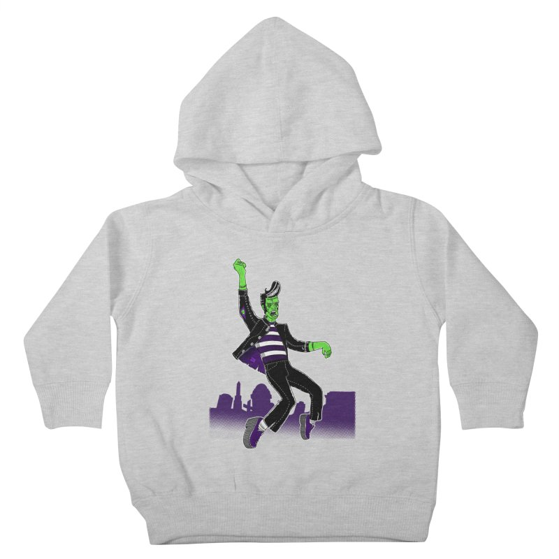 Frankie - Haunted House Rock Kids Toddler Pullover Hoody by John D-C
