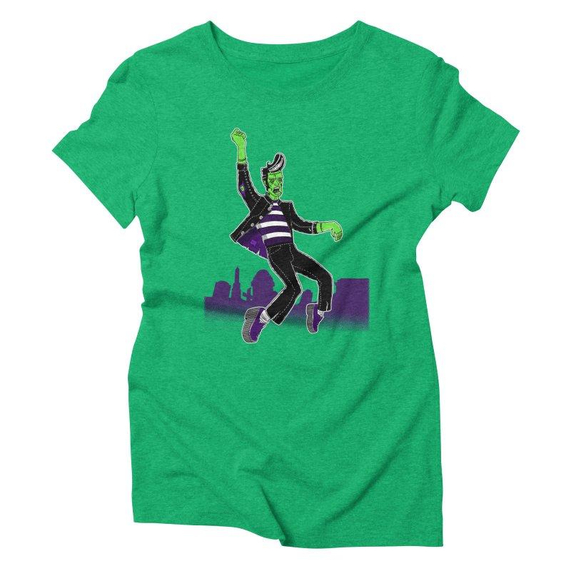 Frankie - Haunted House Rock Women's Triblend T-Shirt by John D-C's Artist Shop