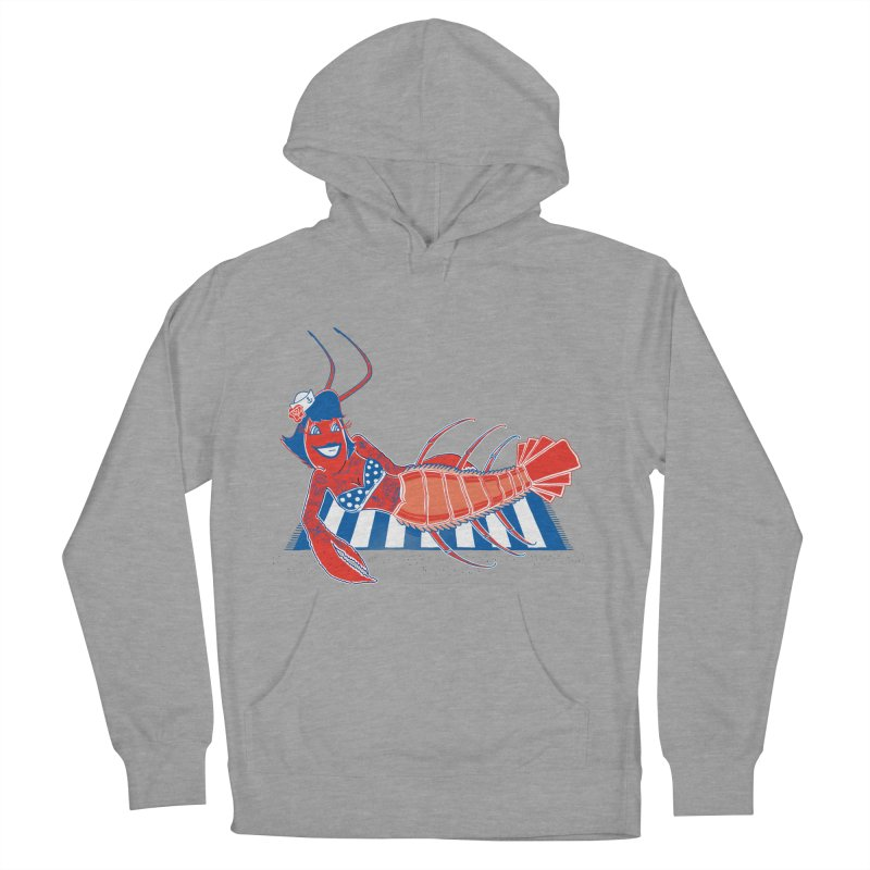 Rockabilly Lobster Men's French Terry Pullover Hoody by John D-C