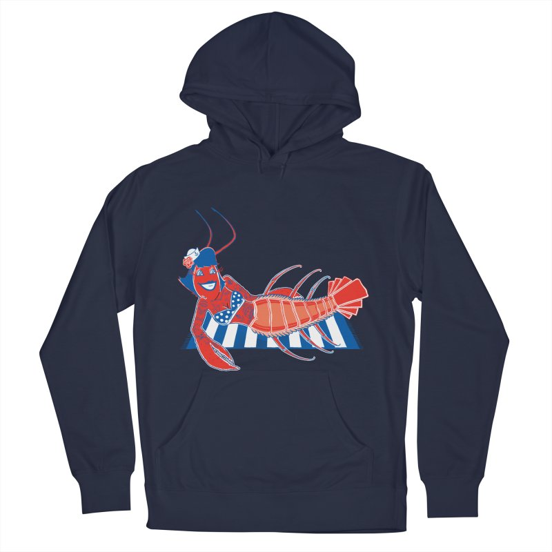 Rockabilly Lobster Men's French Terry Pullover Hoody by John D-C's Artist Shop