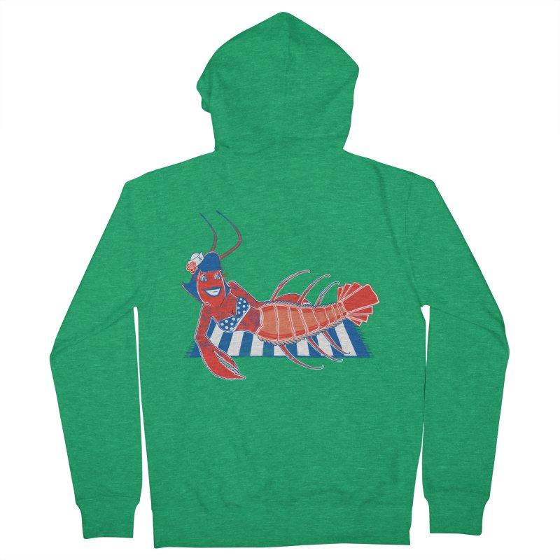 Rockabilly Lobster Women's Zip-Up Hoody by John D-C