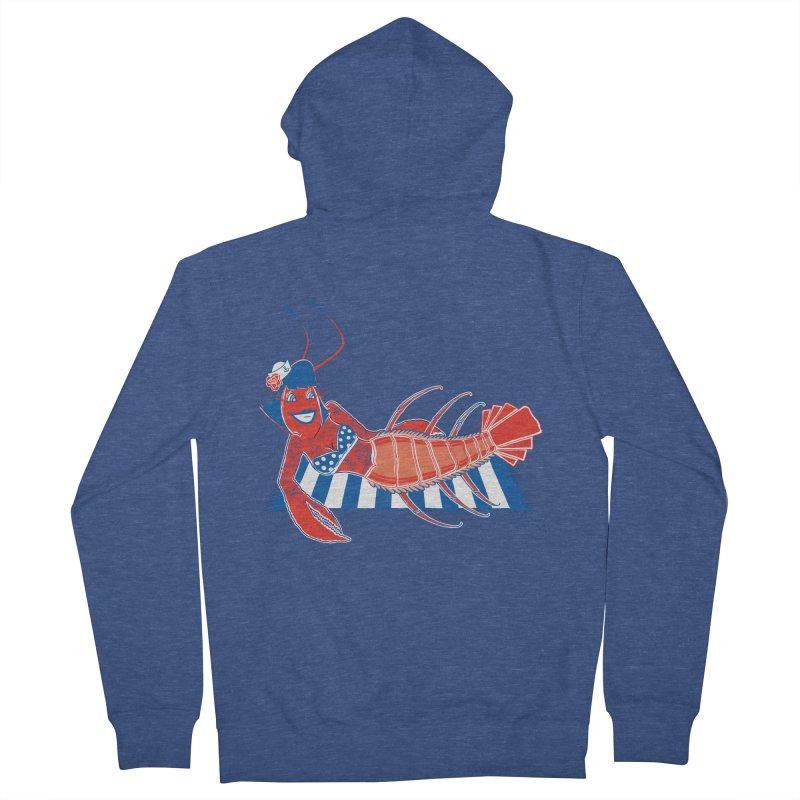 Rockabilly Lobster Women's Zip-Up Hoody by John D-C's Artist Shop