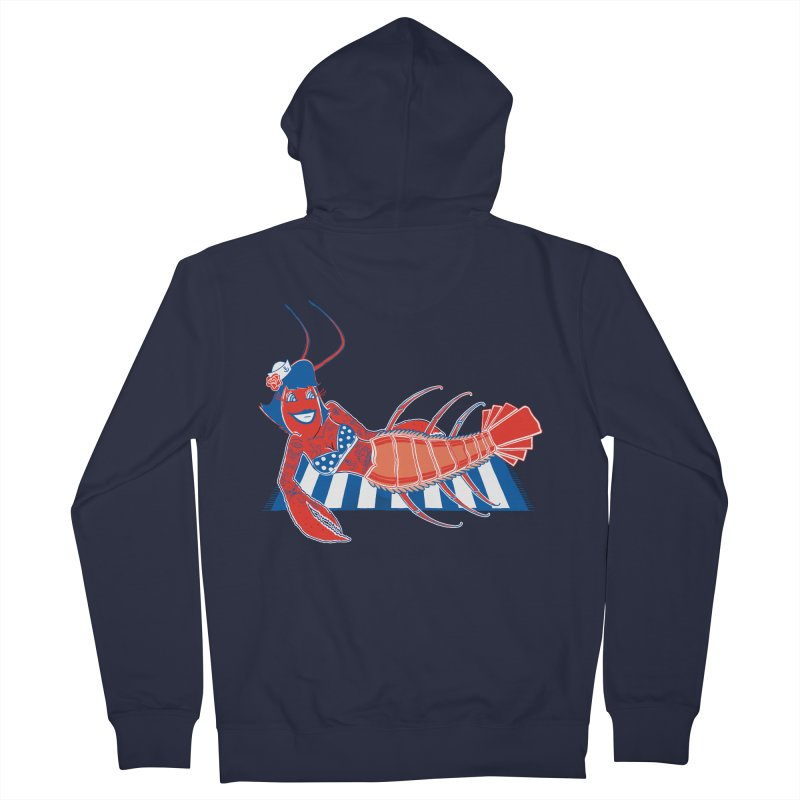 Rockabilly Lobster Women's Zip-Up Hoody by John D-C's Artist Shop