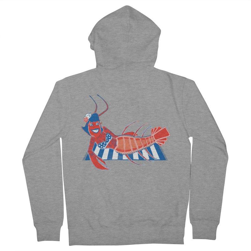Rockabilly Lobster Men's Zip-Up Hoody by John D-C's Artist Shop