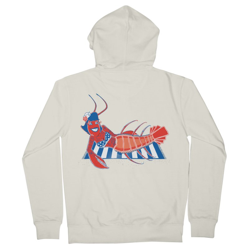 Rockabilly Lobster Men's Zip-Up Hoody by John D-C's Artist Shop