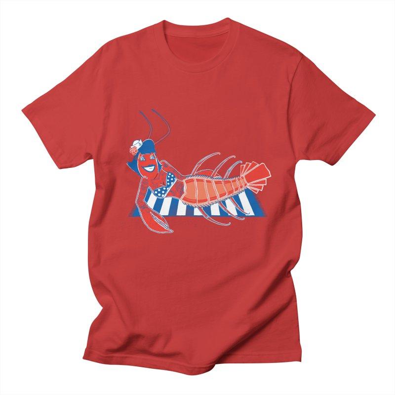 Rockabilly Lobster Men's Regular T-Shirt by John D-C
