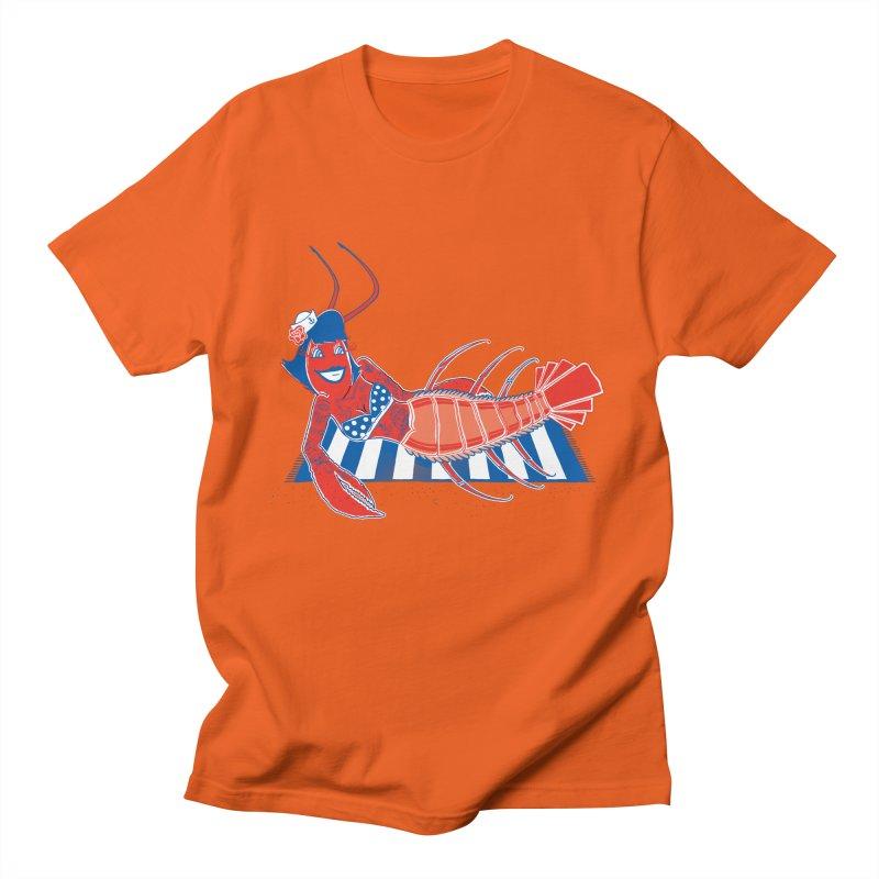 Rockabilly Lobster Men's Regular T-Shirt by John D-C's Artist Shop
