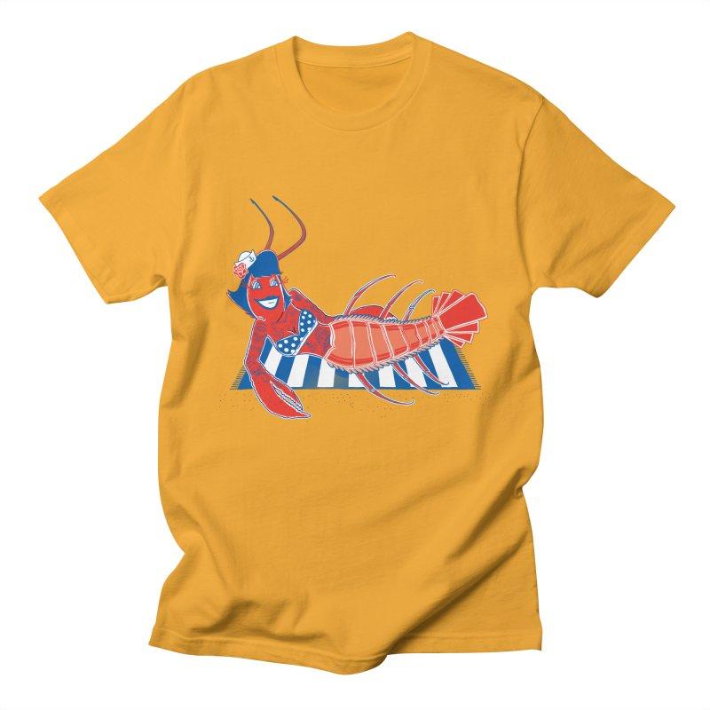 Rockabilly Lobster Men's T-shirt by John D-C's Artist Shop