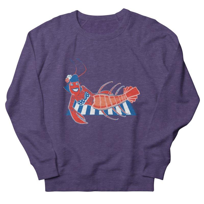 Rockabilly Lobster Women's French Terry Sweatshirt by John D-C's Artist Shop