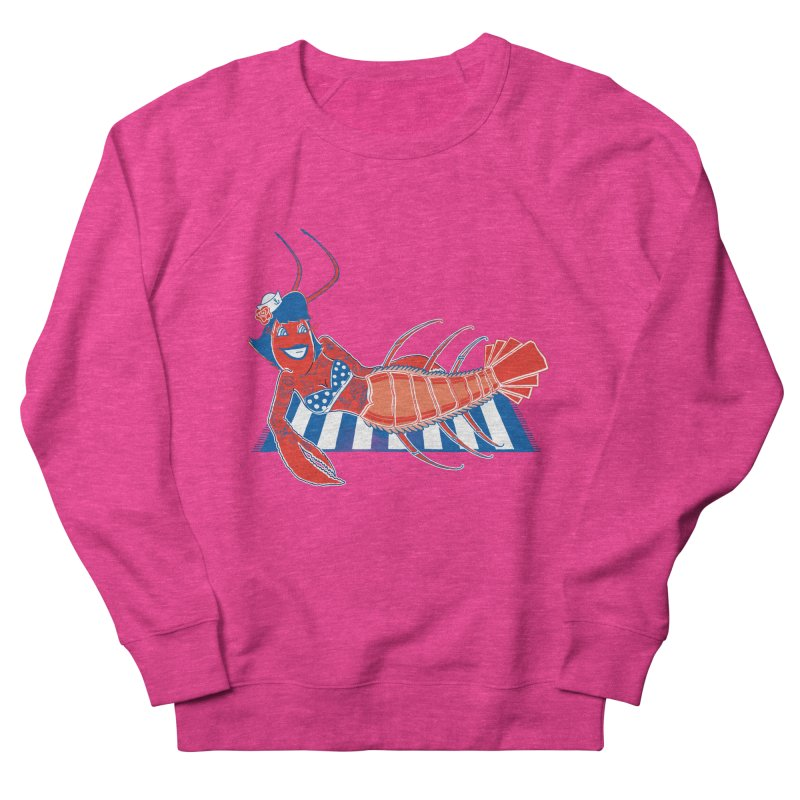 Rockabilly Lobster Women's French Terry Sweatshirt by John D-C