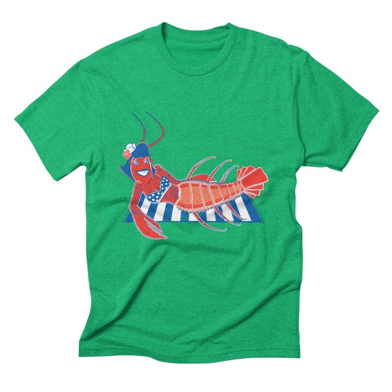 Rockabilly Lobster Men's Triblend T-Shirt by John D-C's Artist Shop