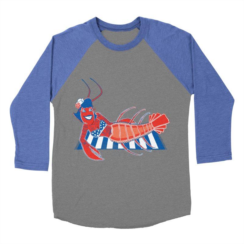 Rockabilly Lobster Women's Baseball Triblend T-Shirt by John D-C's Artist Shop