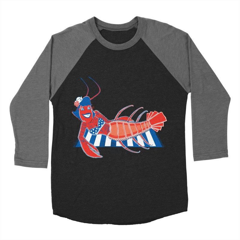 Rockabilly Lobster Men's Baseball Triblend Longsleeve T-Shirt by John D-C's Artist Shop
