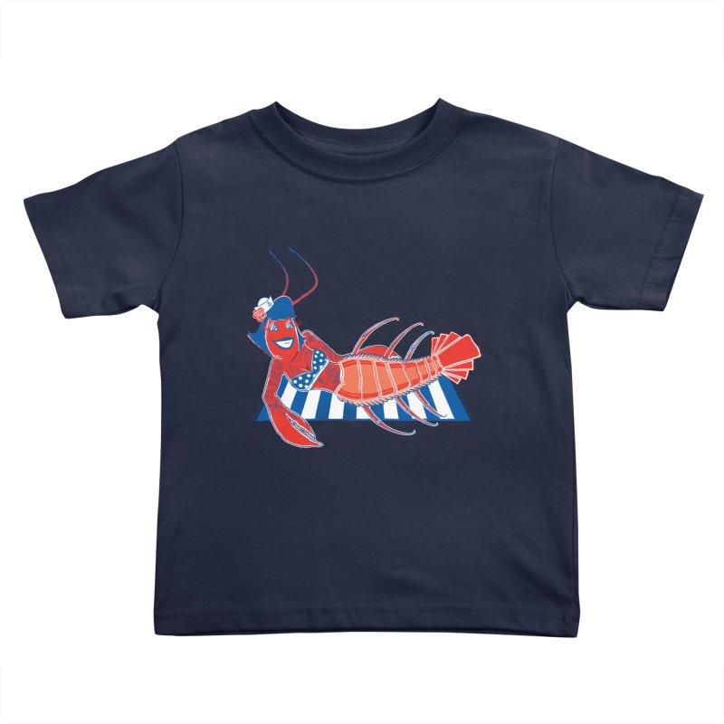 Rockabilly Lobster Kids Toddler T-Shirt by John D-C's Artist Shop