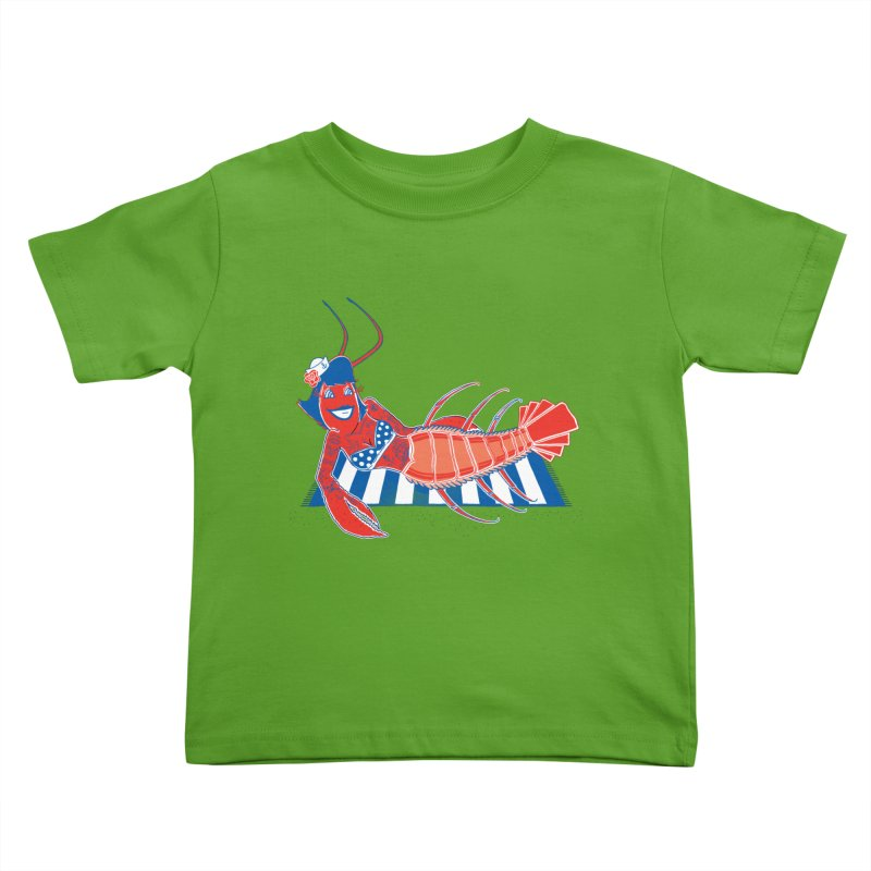 Rockabilly Lobster Kids Toddler T-Shirt by John D-C