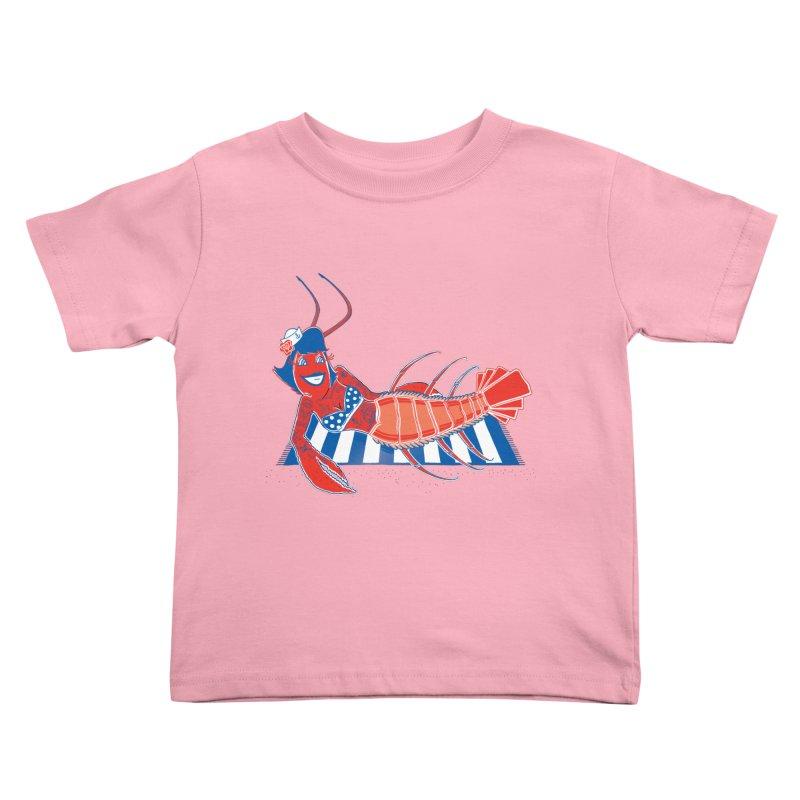 Rockabilly Lobster Kids Toddler T-Shirt by John D-C