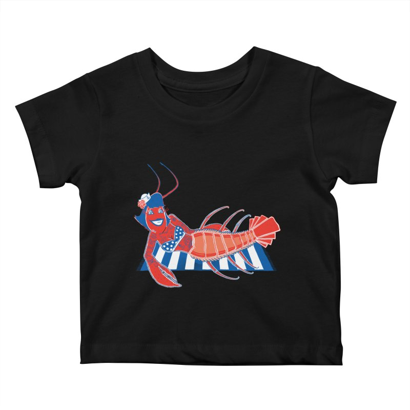 Rockabilly Lobster Kids Baby T-Shirt by John D-C's Artist Shop