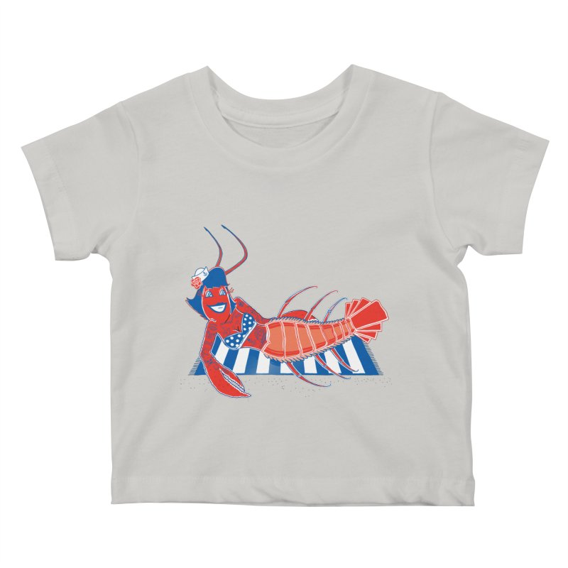 Rockabilly Lobster Kids Baby T-Shirt by John D-C's Artist Shop