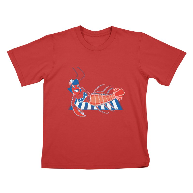 Rockabilly Lobster Kids T-Shirt by John D-C