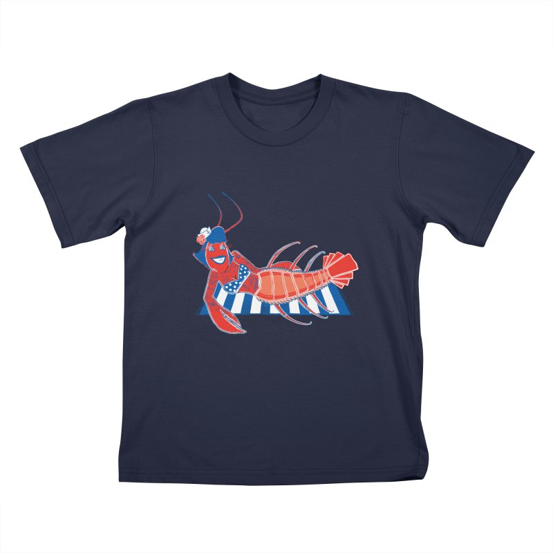 Rockabilly Lobster Kids T-Shirt by John D-C's Artist Shop