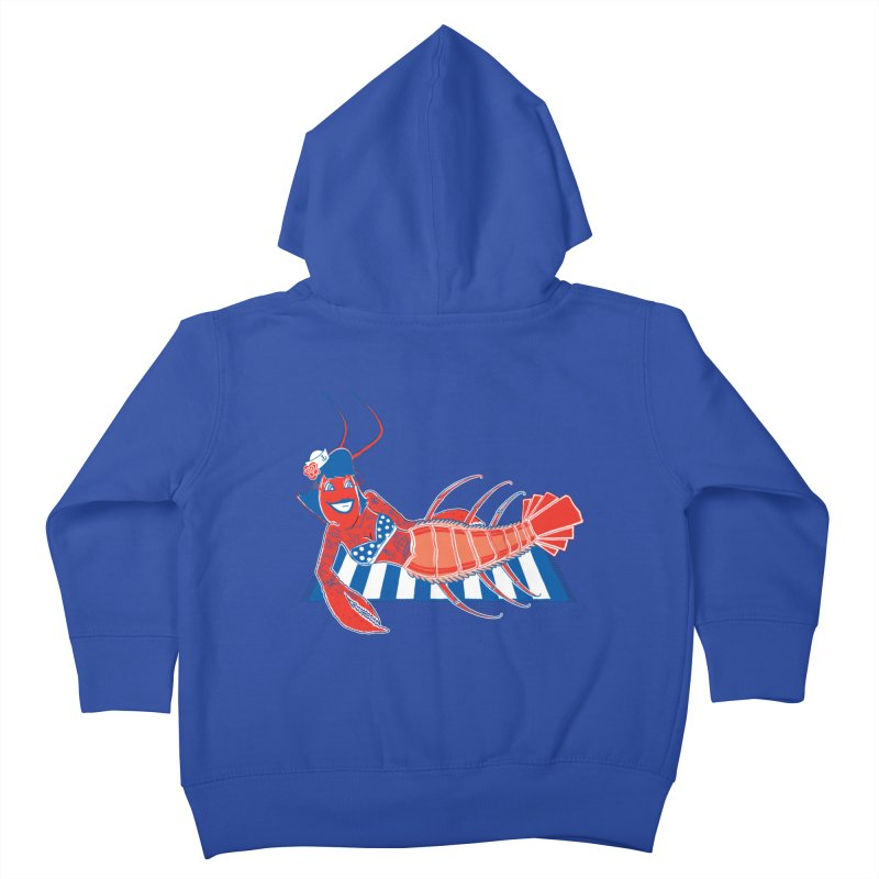 Rockabilly Lobster Kids Toddler Zip-Up Hoody by John D-C