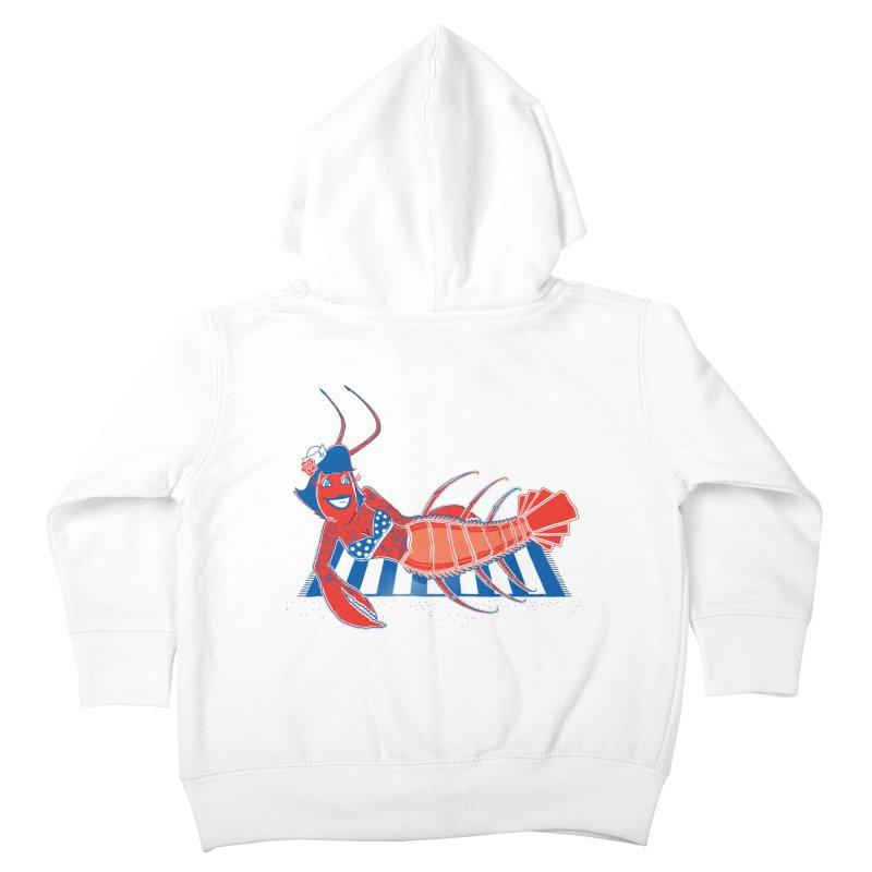 Rockabilly Lobster Kids Toddler Zip-Up Hoody by John D-C's Artist Shop