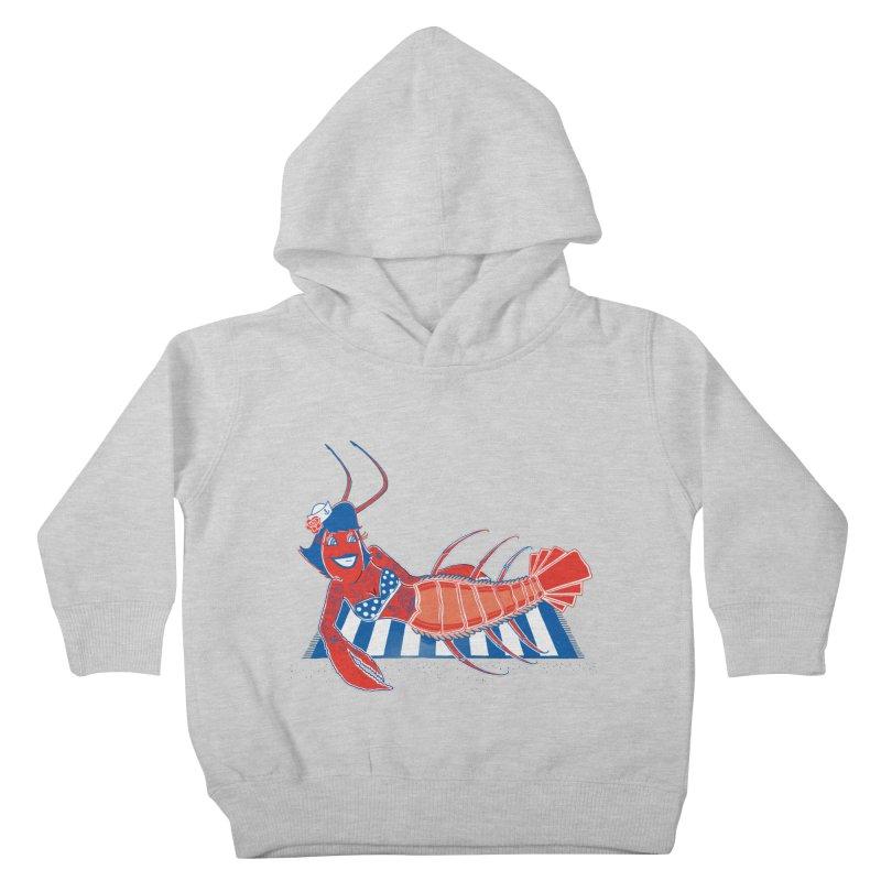 Rockabilly Lobster Kids Toddler Pullover Hoody by John D-C's Artist Shop