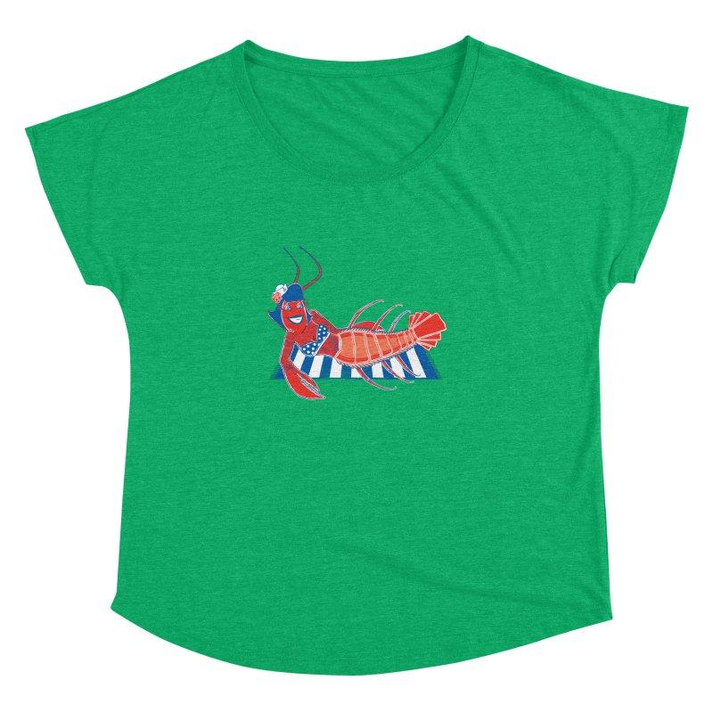 Rockabilly Lobster Women's Dolman Scoop Neck by John D-C