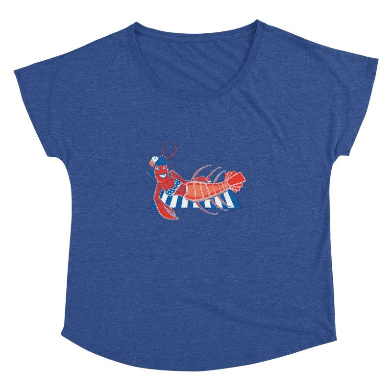 Rockabilly Lobster Women's Dolman Scoop Neck by John D-C's Artist Shop