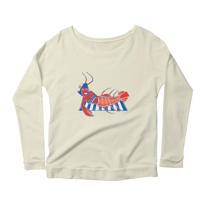 Rockabilly Lobster Women's Scoop Neck Longsleeve T-Shirt by John D-C